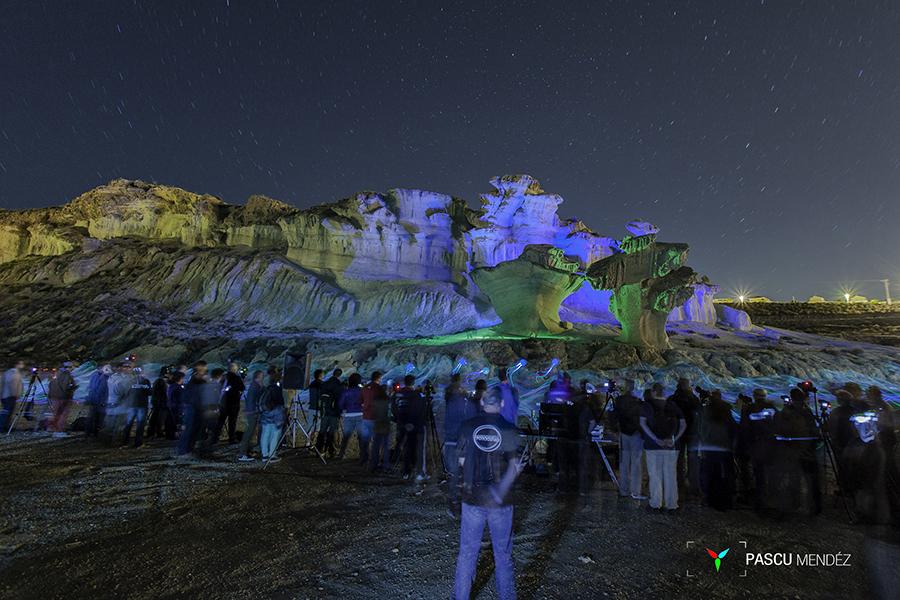 Taller nocturno de Light Painting en las Erosiones de Bolnuevo, Mazarrón.